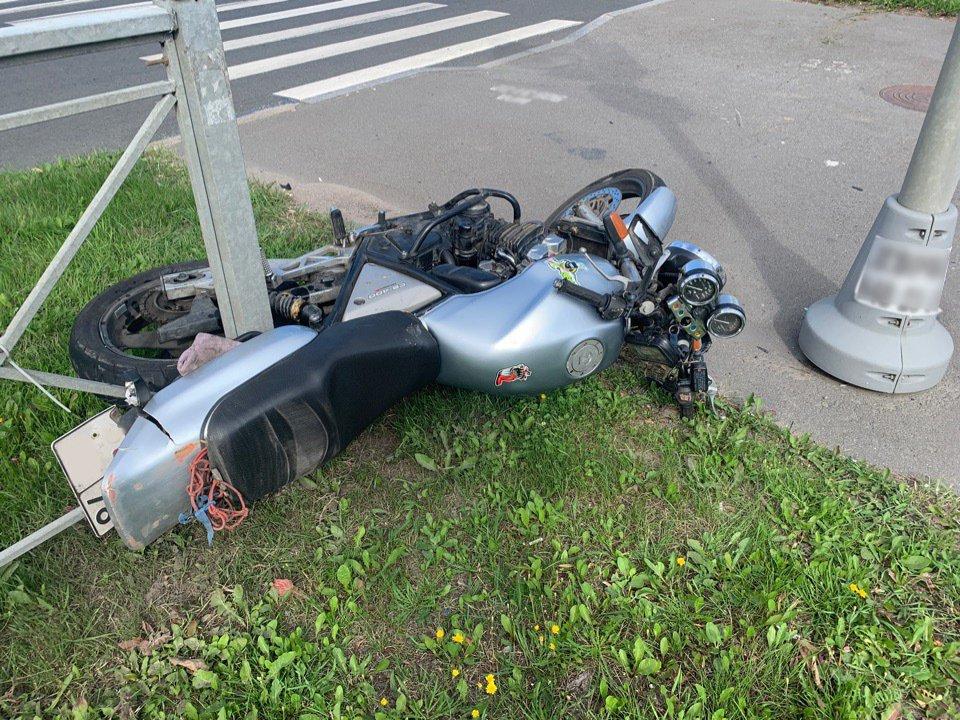 В Санкт-Петербурге мотоциклистка попала в ДТП