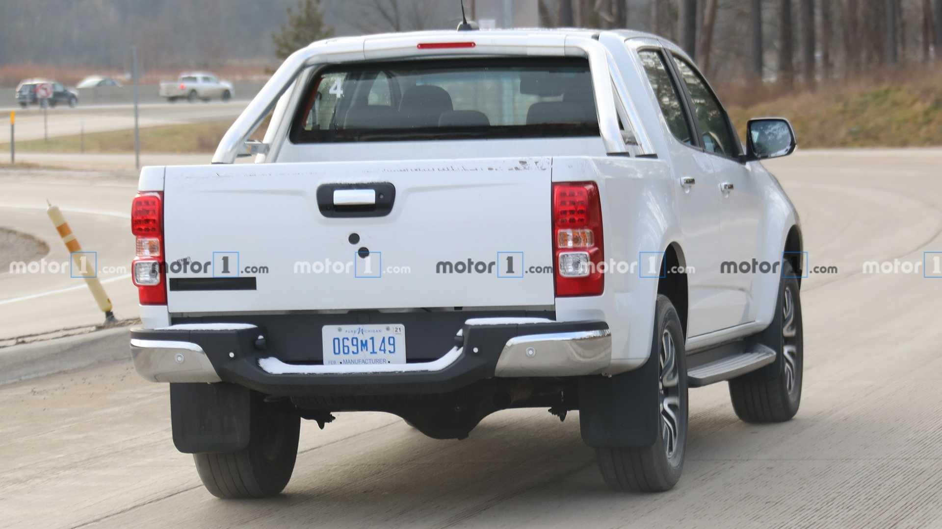 На тестах замечен прототип обновленного пикапа Chevrolet Colorado