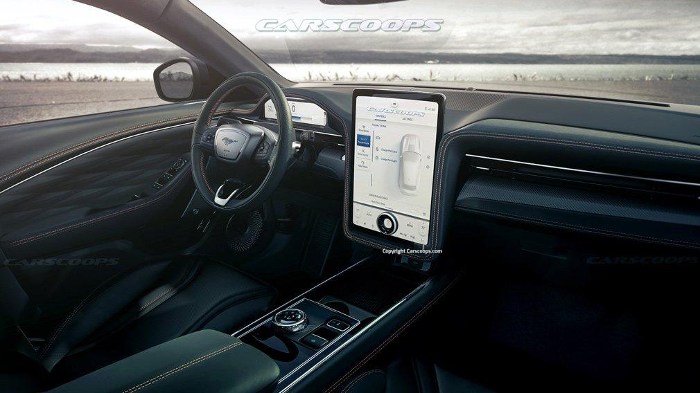 В Сети показали рендеры Ford Mustang Mach-S с четырьмя дверьми