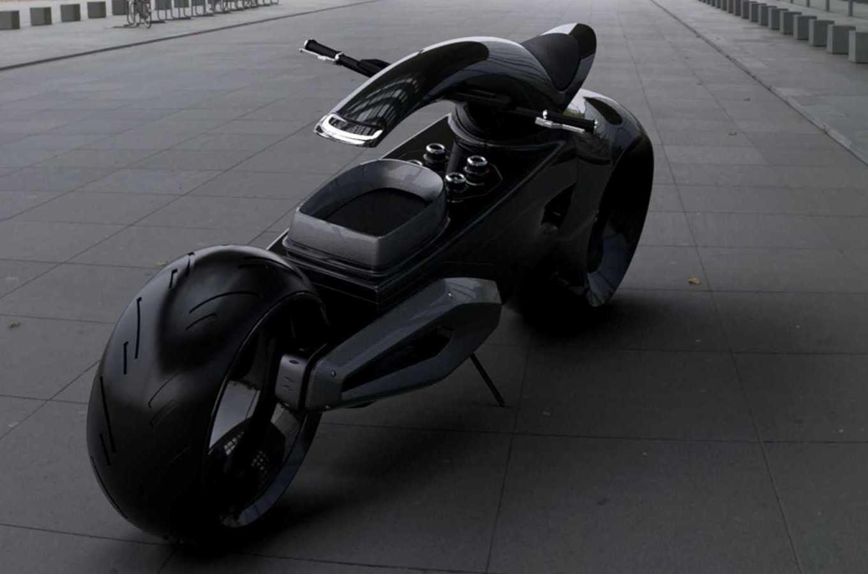 В сети показали прототип электрического мотоцикла Bugatti