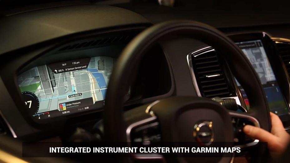 Компания Garmin случайно рассекретила в видео салон Volvo S60 или V60 2020 года
