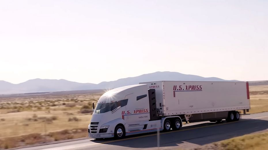 Nikola Motor показала 1 000-сильный водородный фургон One навидео