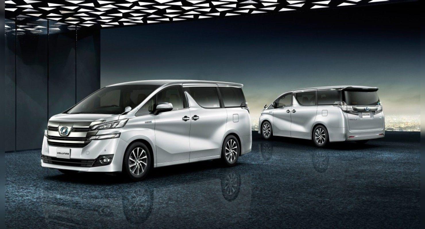 Минивэны Toyota Alphard и Vellfire получат отделку из золота