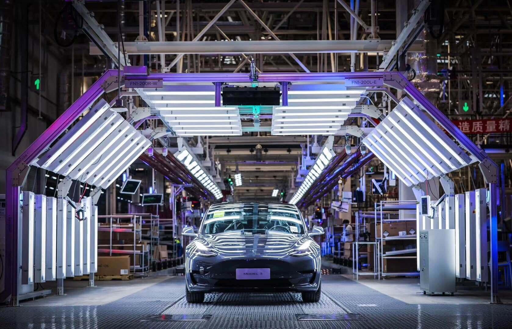 Tesla собирается нарастить объем производства Model 3 в Шанхае