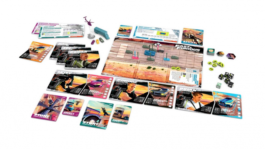 В продаже появилась настольная игра Форсаж: Ограбление на шоссе