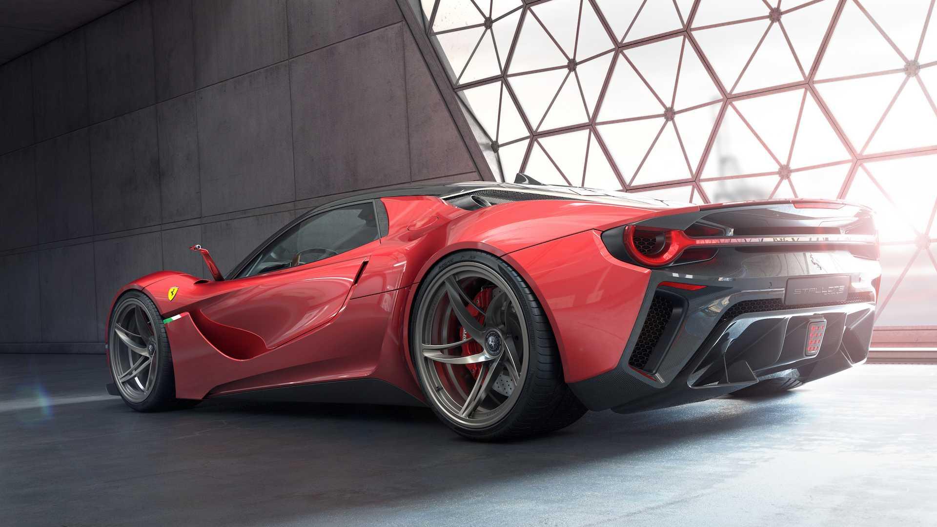 Ferrari Stallone Concept или достойный преемник гибридного LaFerrari