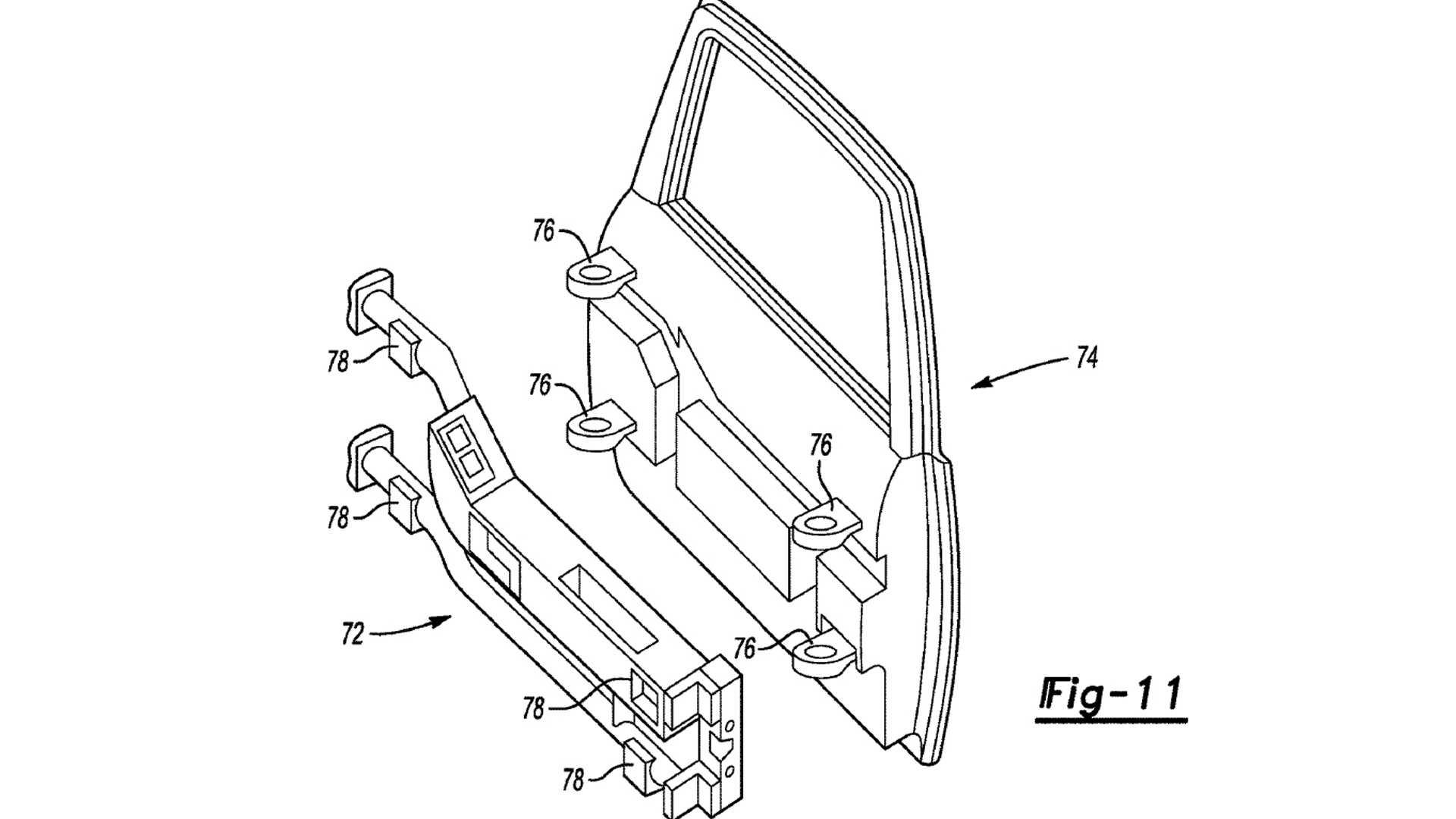 Появился патент на быстросъёмные двери для внедорожника Ford Bronco