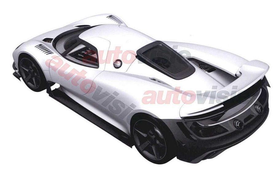 Рассекречен внешний вид нового гибридного гиперкара Porsche
