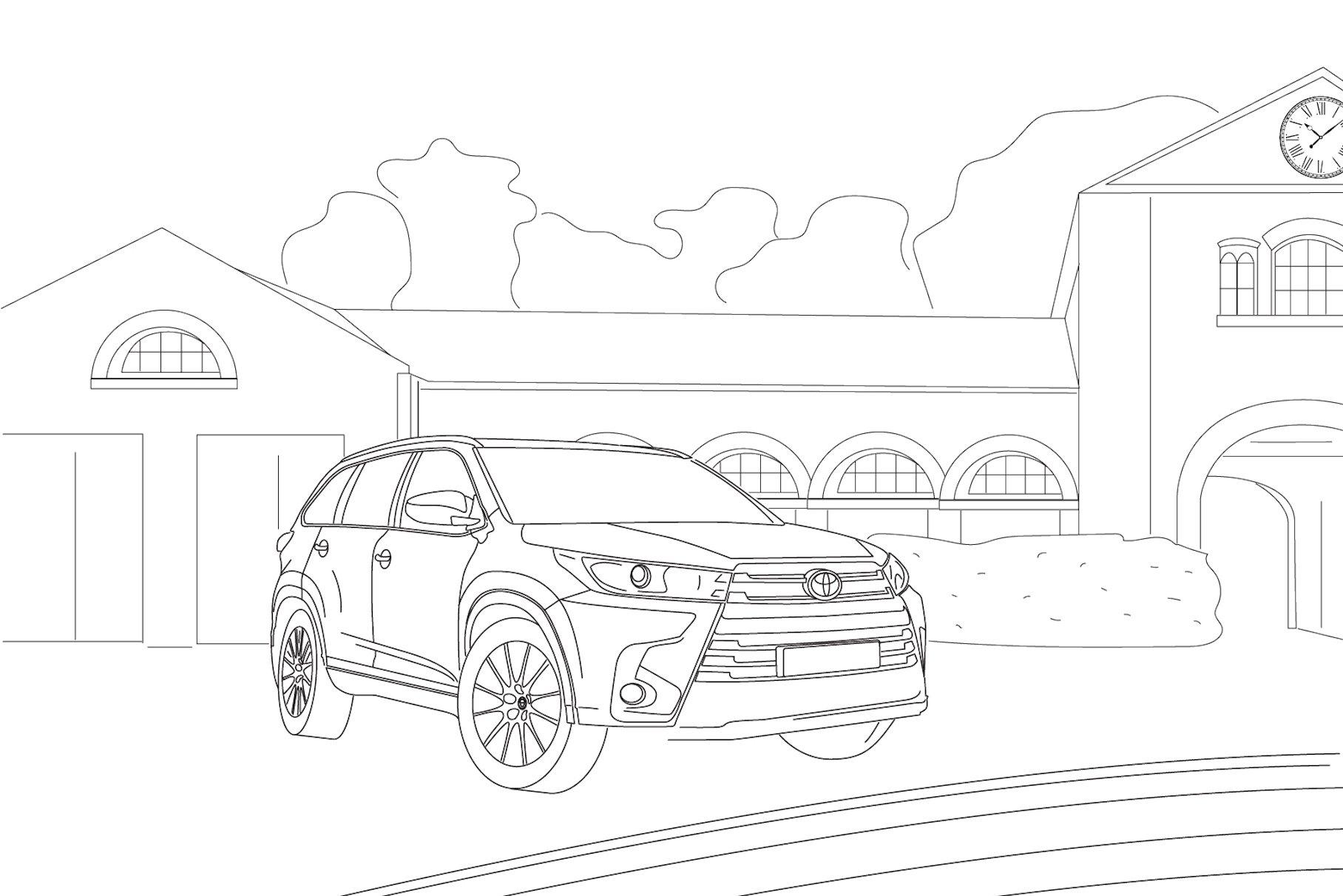 Toyota сделала для россиян раскраски со всеми моделями