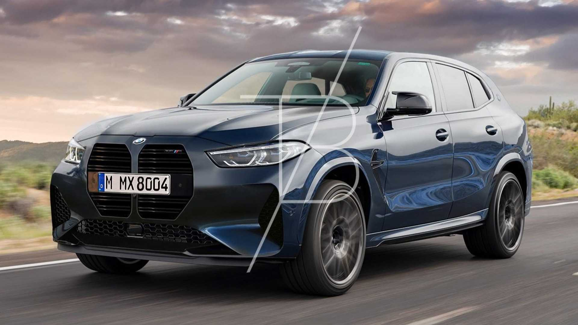 В интернете опубликовали рендер BMW X8 M