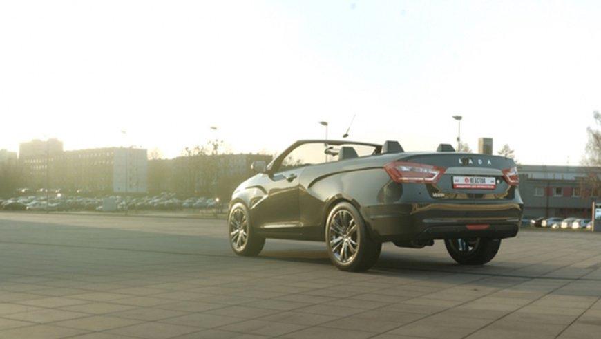 Дизайнер Александр Шторм разработал рендеры Lada Vesta в кузове кабриолет