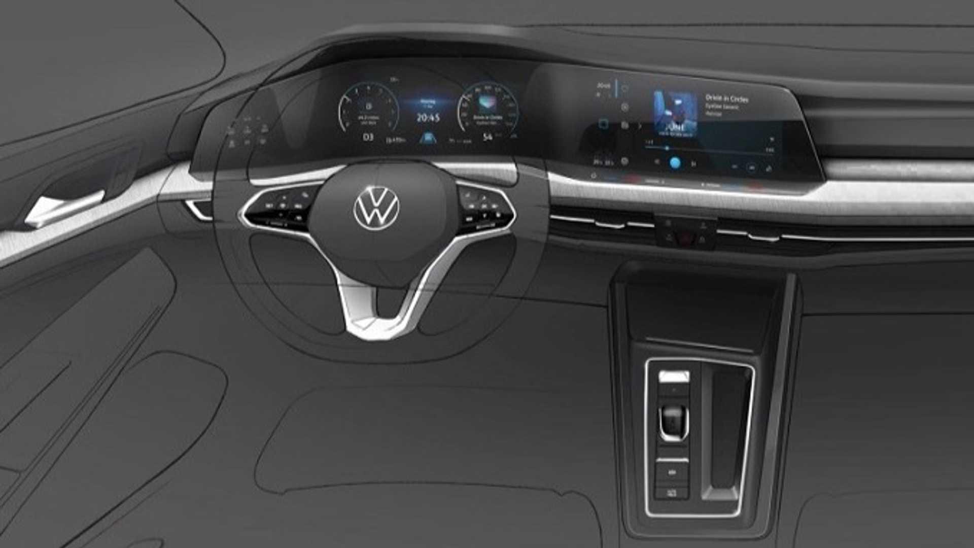 VW показал фотографии нового поколения хэтчбека Golf