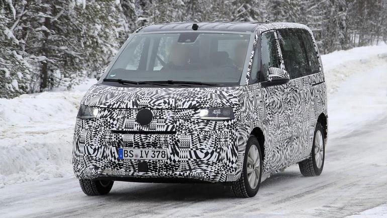 Новый Volkswagen Transporter V7 замечен на тестах