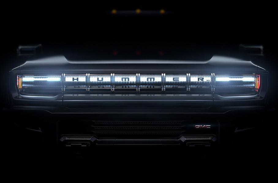 В сети появилось изображение электрического пикапа Hummer