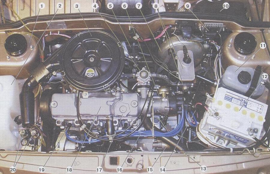Мощность двигателя на ваз 2108