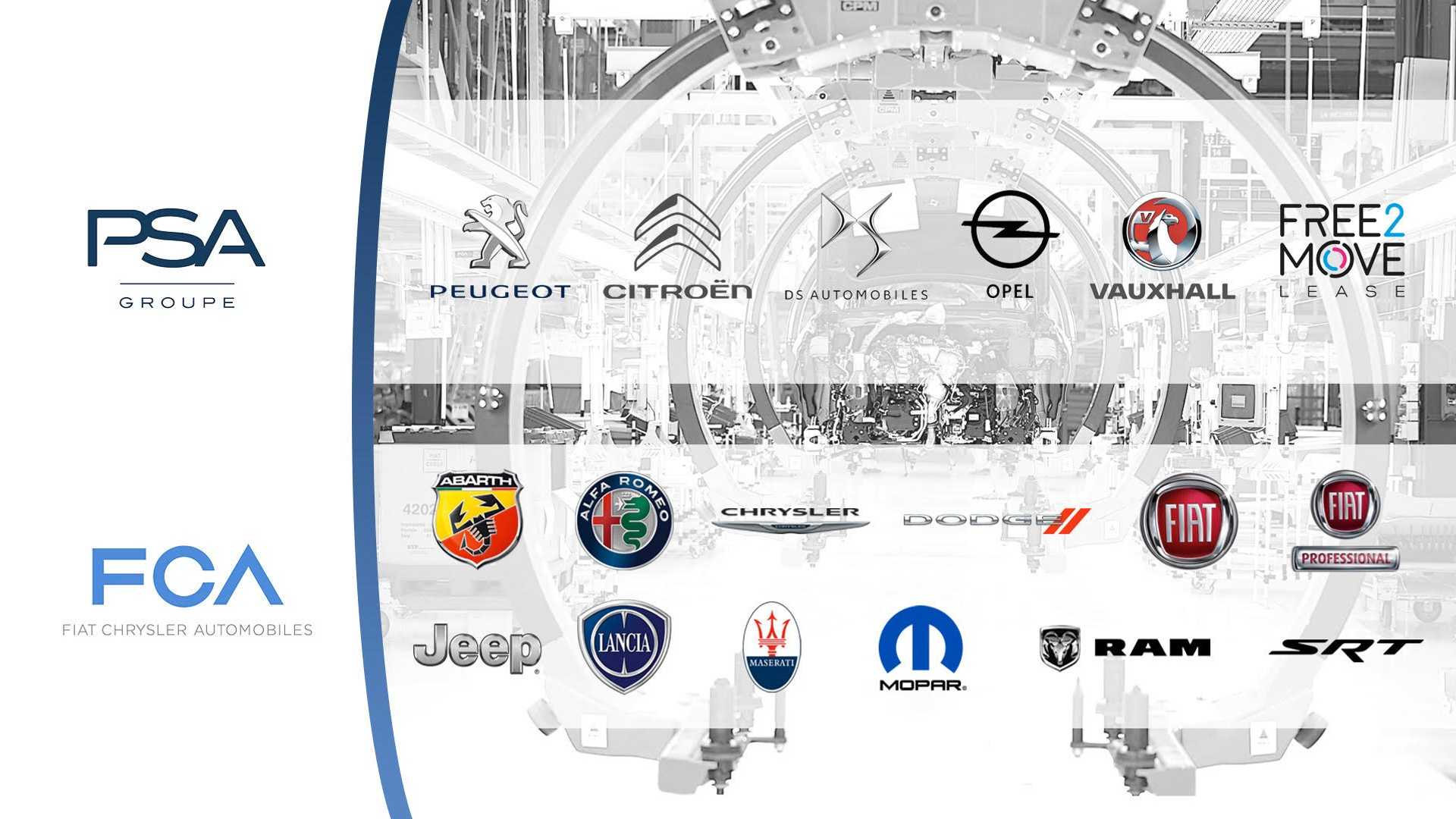 Концерны PSA и FCA сохранят все 13 брендов