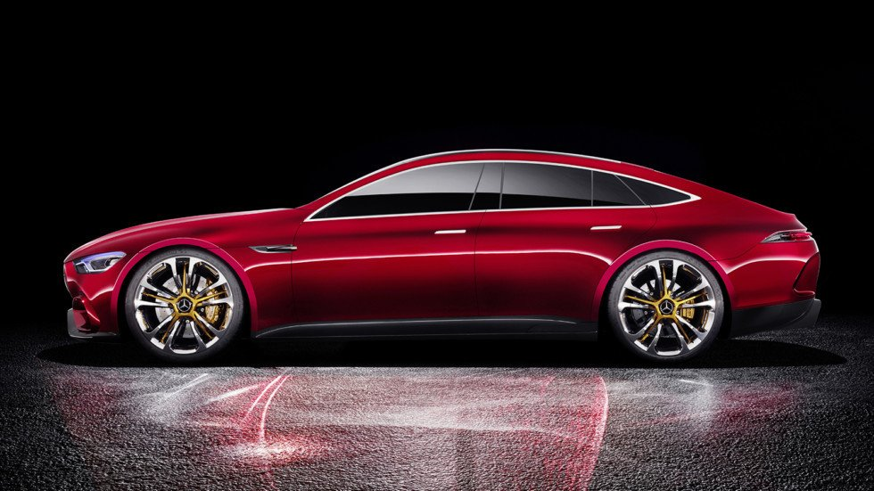 Снова Mercedes-AMGGT Sedan, однако уже без практически камуфляжа!