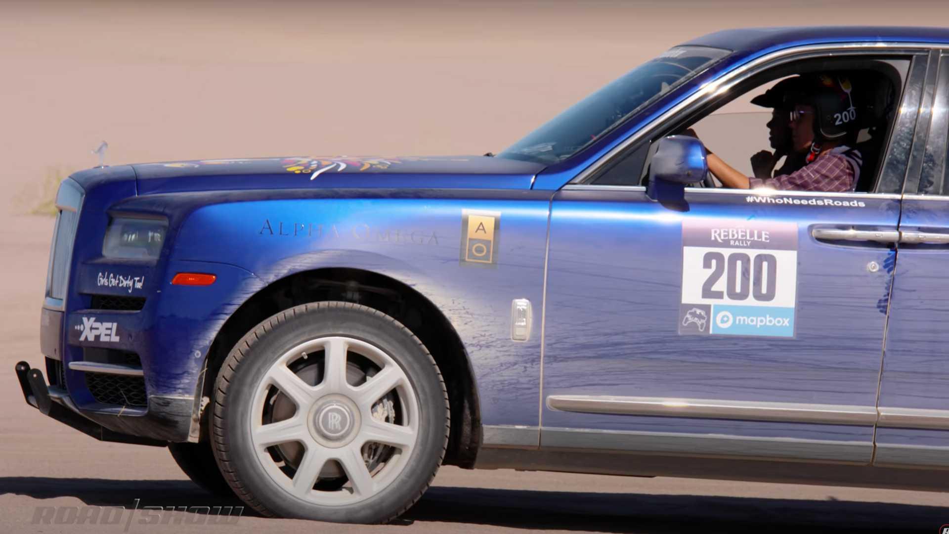 Роскошный кроссовер Rolls-Royce Cullinan вполне может участвовать в ралли