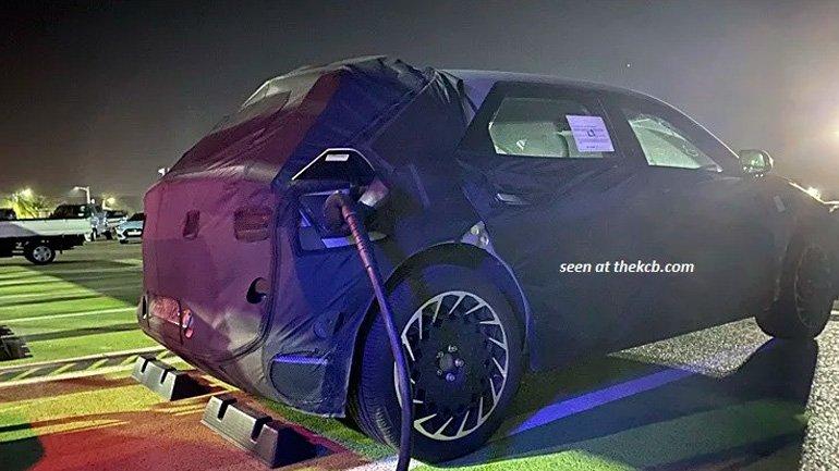 Новый электрокар Hyundai 45 снова замечен на тестах
