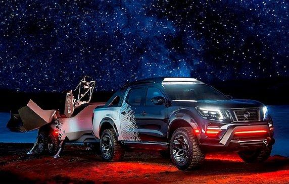 Nissan построил пикап Nissan Navara для астрономов c телескопом и другим спецоборудованием