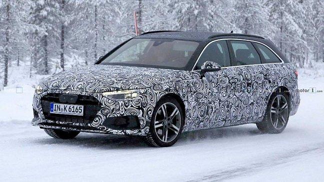 Появились фотографии обновленного Audi A4 Avant