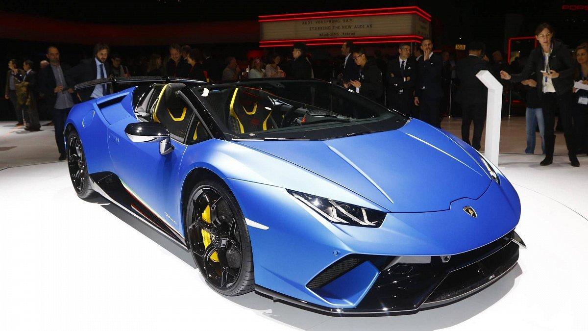 В Женеве официально представили родстер Lamborghini Huracan Performante – Spyder