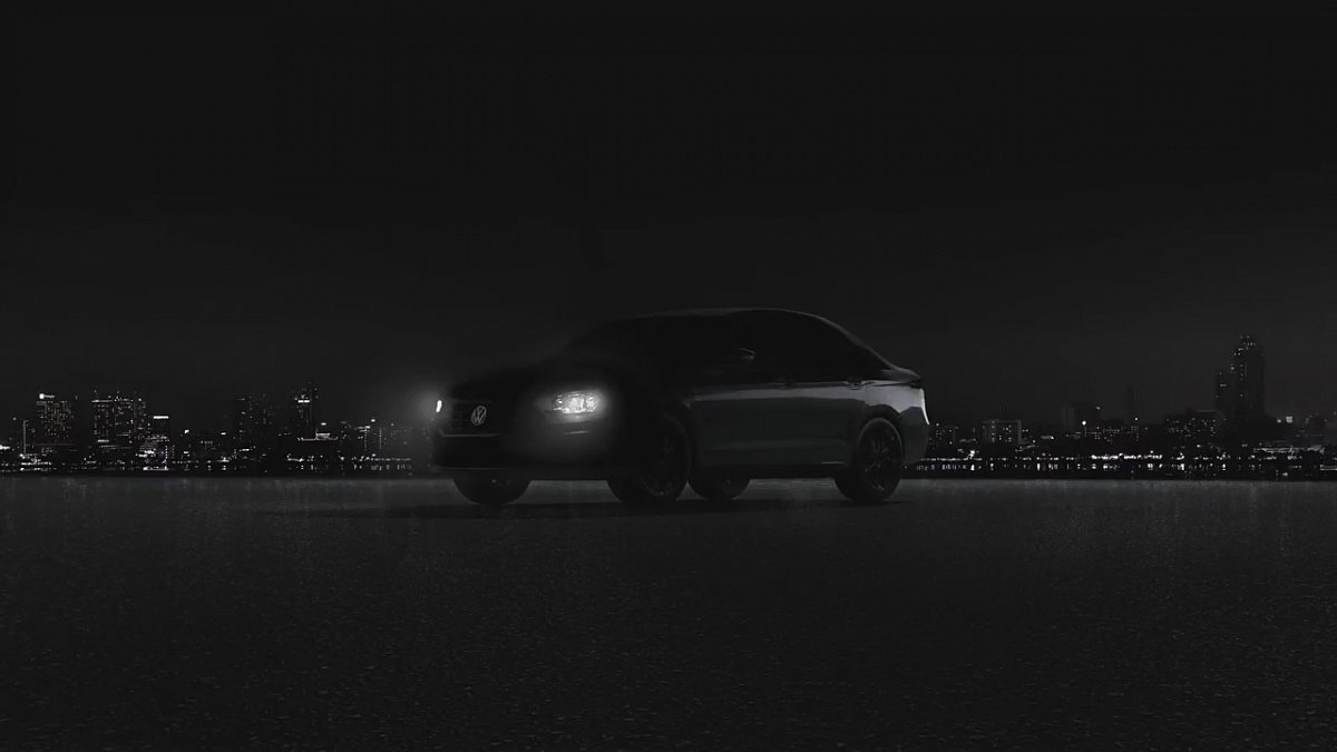 VW  продемонстрировал  силуэт Jetta обновленного поколения