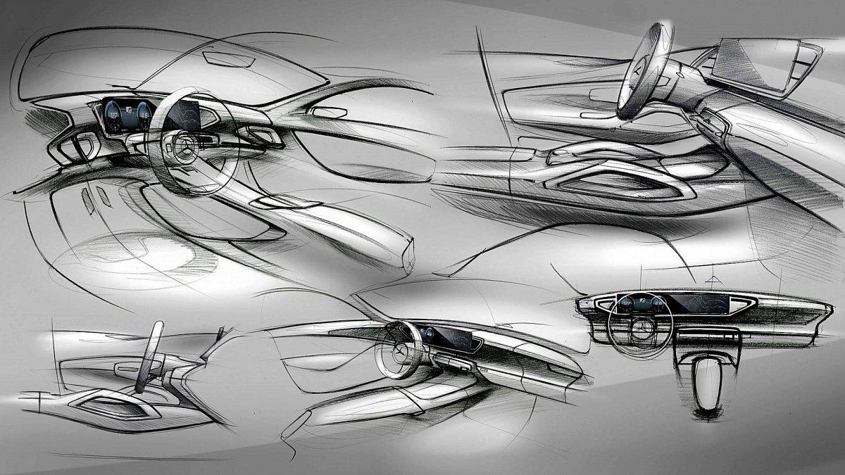 Benz показала тизеры салона нового GLE