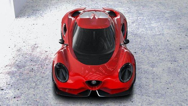 В сети показали, как мог бы выглядеть экстремальный родстер Alfa Romeo
