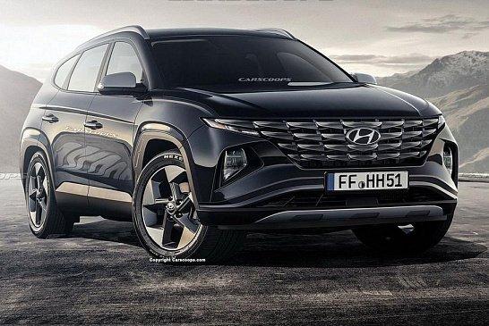 В Сети появились фото кузова нового пикапа Hyundai Santa Cruz