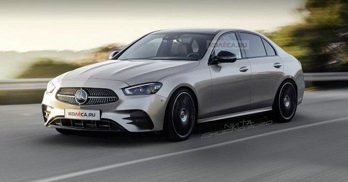 Прототип Mercedes-Benz C-Class 2021 «подловили» на АЗС