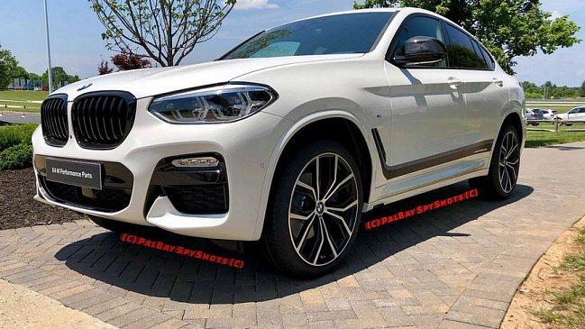 В сети появились фотографии BMW X4 с пакетом обвеса M Performance