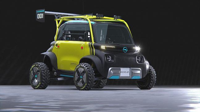Представлены неофициальные рендеры электрического квадроцикла Opel Rocks E-xtreme