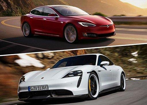 Tesla «издевается» над новым Porsche Taycan