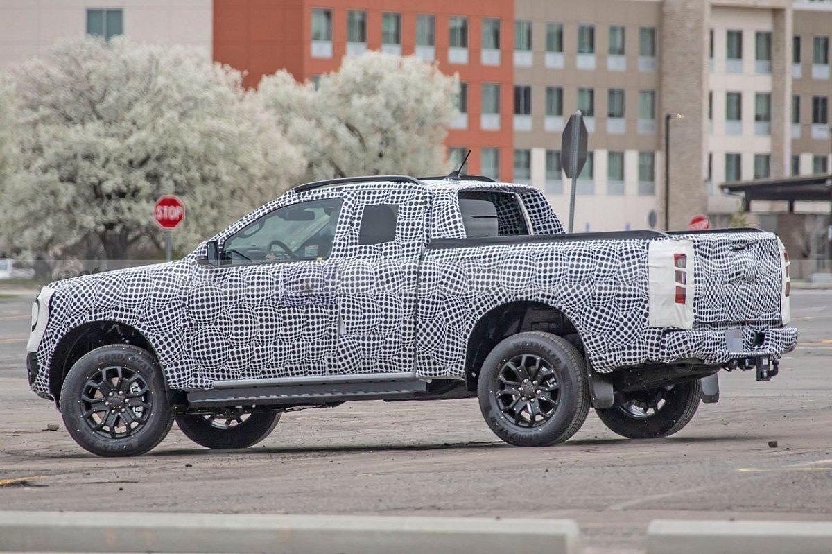 В Сети появились первые изображения Ford Ranger Wildtrak 2023 в версии Super Cab