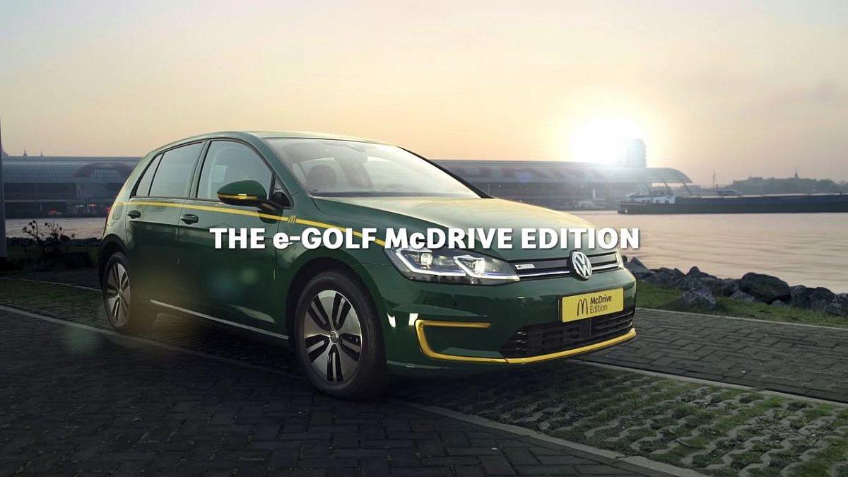 Mcdonald's представили спецверсию Volkswagen Golf для фастфуда