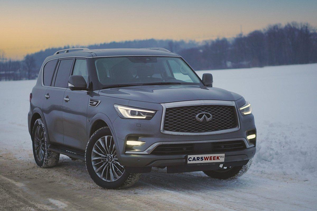 Третье пришествие: тест обновлённого Infiniti QX80 читать, обзор, тест, комплектации, характеристики авто, фото, цены в России на сайте Carsweek